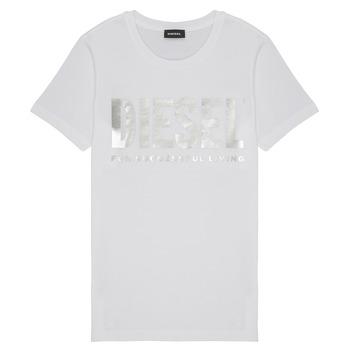 Oblačila Deklice Majice s kratkimi rokavi Diesel TSILYWX Bela