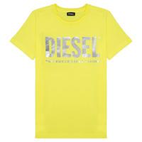 Oblačila Deklice Majice s kratkimi rokavi Diesel TSILYWX Rumena