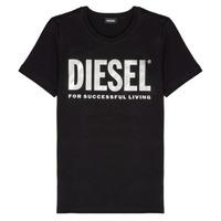 Oblačila Deklice Majice s kratkimi rokavi Diesel TSILYWX Črna