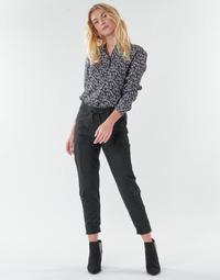 Oblačila Ženske Hlače s 5 žepi Freeman T.Porter CELINE SILIANO Črna