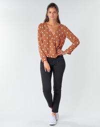 Oblačila Ženske Hlače s 5 žepi Freeman T.Porter ALEXA CROPPED S-SDM Črna