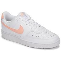 Čevlji  Ženske Nizke superge Nike COURT VISION LOW Bela / Rožnata