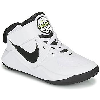 Čevlji  Dečki Košarka Nike TEAM HUSTLE D 9 PS Bela / Črna