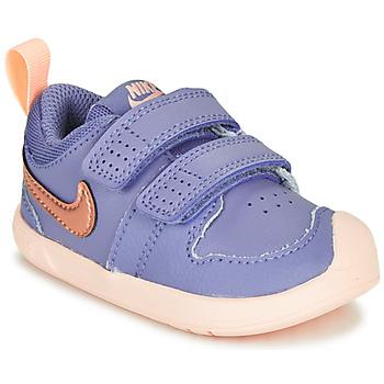Čevlji  Deklice Nizke superge Nike PICO 5 TD Vijolična / Rožnata