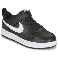 Čevlji  Otroci Nizke superge Nike COURT BOROUGH LOW 2 PS Črna / Bela