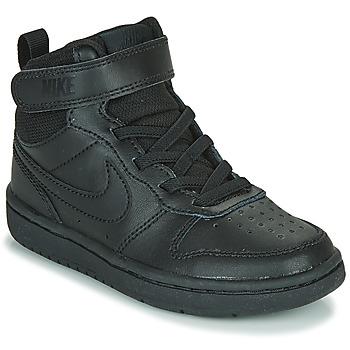 Čevlji  Otroci Visoke superge Nike COURT BOROUGH MID 2 PS Črna