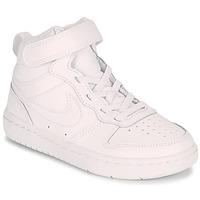 Čevlji  Otroci Nizke superge Nike COURT BOROUGH MID 2 PS Bela