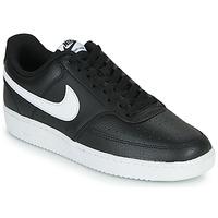 Čevlji  Moški Nizke superge Nike COURT VISION LOW Črna / Bela