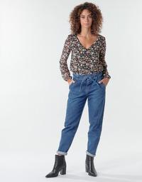 Oblačila Ženske Hlače s 5 žepi One Step FR29091_46 Modra