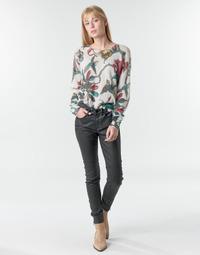Oblačila Ženske Hlače s 5 žepi One Step FR29031_02 Črna