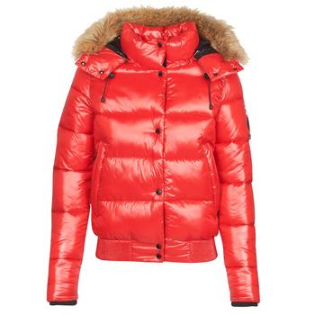 Oblačila Ženske Puhovke Superdry HIGH SHINE TOYA BOMBER Rdeča