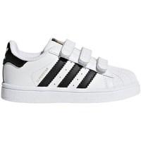 Čevlji  Otroci Nizke superge adidas Originals Superstar CF I Bela
