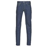 Oblačila Moški Jeans straight Replay GROVER Modra