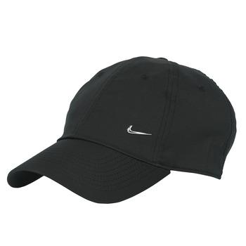 Tekstilni dodatki Kape s šiltom Nike U NSW H86 METAL SWOOSH CAP Črna / Srebrna