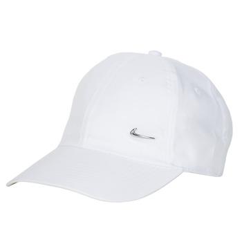 Tekstilni dodatki Kape s šiltom Nike U NSW H86 METAL SWOOSH CAP Bela / Srebrna