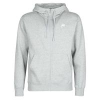Oblačila Moški Puloverji Nike M NSW CLUB HOODIE FZ BB Siva
