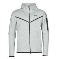 Oblačila Moški Športne jope in jakne Nike M NSW TCH FLC HOODIE FZ WR Siva / Črna