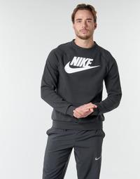 Oblačila Moški Puloverji Nike M NSW MODERN CRW FLC HBR Črna / Bela
