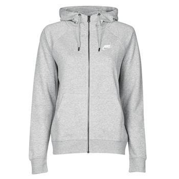 Oblačila Ženske Puloverji Nike W NSW ESSNTL HOODIE FZ FLC Siva