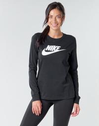 Oblačila Ženske Majice z dolgimi rokavi Nike W NSW TEE ESSNTL LS ICON FTR Črna