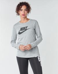 Oblačila Ženske Majice z dolgimi rokavi Nike W NSW TEE ESSNTL LS ICON FTR Siva