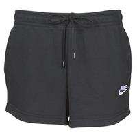 Oblačila Ženske Kratke hlače & Bermuda Nike W NSW ESSNTL SHORT FT Črna