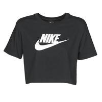 Oblačila Ženske Majice s kratkimi rokavi Nike W NSW TEE ESSNTL CRP ICN FTR Črna