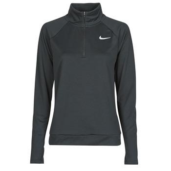 Oblačila Ženske Majice z dolgimi rokavi Nike W NK PACER HZ Črna