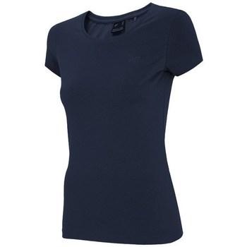 Oblačila Ženske Majice s kratkimi rokavi 4F TSD001 Mornarsko modra