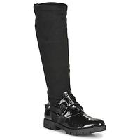 Čevlji  Ženske Mestni škornji    Regard CANET V1 VERNIS NOIR Črna