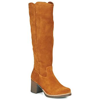 Čevlji  Ženske Mestni škornji    Casual Attitude HAPI Kamel