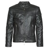 Oblačila Moški Usnjene jakne & Sintetične jakne Guess PU LEATHER BIKER Črna