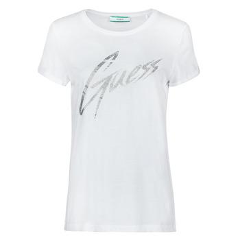 Oblačila Ženske Majice s kratkimi rokavi Guess SS CN IVONNE TEE Bela