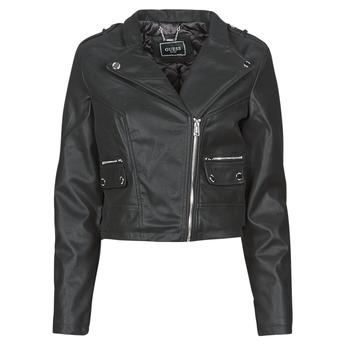 Oblačila Ženske Usnjene jakne & Sintetične jakne Guess FRANCES JACKET Črna