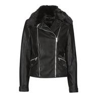 Oblačila Ženske Usnjene jakne & Sintetične jakne Guess CANTARA Črna