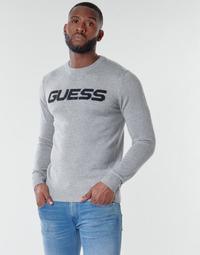 Oblačila Moški Puloverji Guess LOGO SWEATER Siva