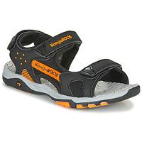 Čevlji  Dečki Športni sandali Kangaroos K-Celtic Črna / Oranžna