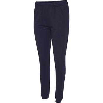 Oblačila Ženske Spodnji deli trenirke  Hummel Pantalon femme  hmlGO cotton bleu marine
