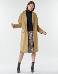 Oblačila Ženske Plašči Vila VICALLEE Kamel