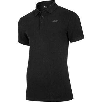 Oblačila Moški Polo majice kratki rokavi 4F TSM008 Črna