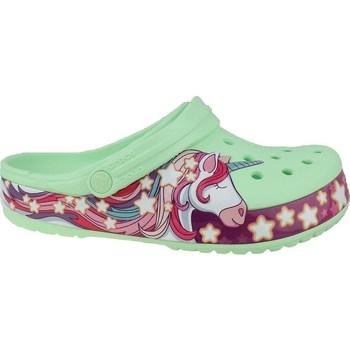 Čevlji  Otroci Japonke Crocs Fun Lab Unicorn Band Clog Zelena,Roza