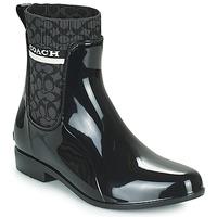 Čevlji  Ženske škornji za dež  Coach RIVINGTON RAIN BOOTIE Črna