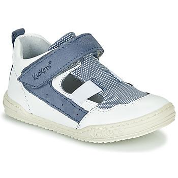 Čevlji  Dečki Sandali & Odprti čevlji Kickers JASON Bela / Modra