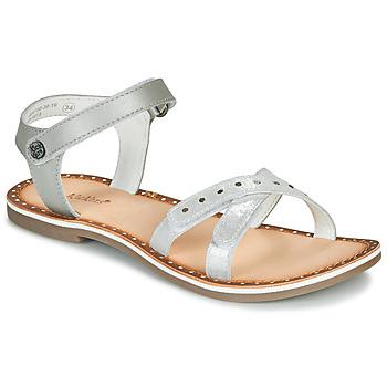 Čevlji  Deklice Sandali & Odprti čevlji Kickers DIDONC Srebrna