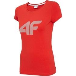 Oblačila Ženske Majice s kratkimi rokavi 4F TSD005 Rdeča