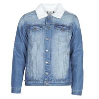 Oblačila Moški Jeans jakne Casual Attitude  Modra