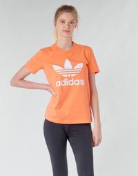 Oblačila Ženske Puloverji adidas Originals TREFOIL TEE Oranžna