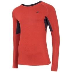 Oblačila Moški Majice z dolgimi rokavi 4F TSMLF002 Oranžna
