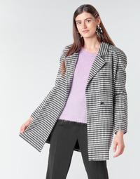 Oblačila Ženske Plašči Betty London NIVER Črna / Bela