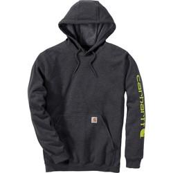 Oblačila Puloverji Carhartt Sweatshirt à capuche  Logo gris carbone